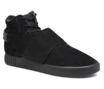 Tubular Invader Strap Sneaker in schwarz