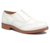 ALBANY Oxford Brogue Metal Schnürschuhe in weiß