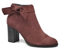 Fena Leather Boot Stiefeletten & Boots in weinrot