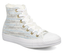 Ctas Winter Knit+Fur Hi Sneaker in weiß