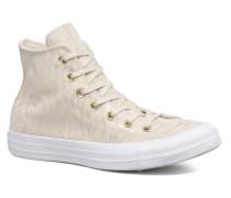 Chuck Taylor All Star Shimmer Suede Hi Sneaker in beige
