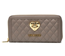 Quilted zip around Portemonnaies & Clutches für Taschen in grau