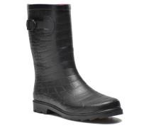 Demi Croco Mat Stiefeletten & Boots in schwarz