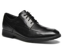 DP Modern Apron Toe Schnürschuhe in schwarz