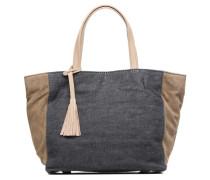 Cabas Parisien Mm Toile & Cuir Handtaschen für Taschen in blau