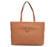 Cabas zippé Violette Handtasche in braun
