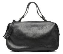 OMEAinBUL Double porté Cuir Handtaschen für Taschen in schwarz
