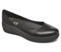 Leather Superballerina Ballerinas in schwarz