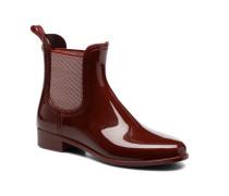Derby Stiefeletten & Boots in weinrot