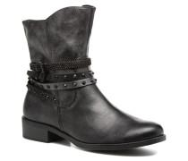 Mokka Stiefeletten & Boots in schwarz