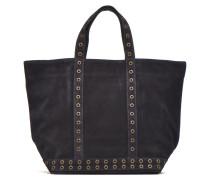 Cabas cuir velours œillets L Handtaschen für Taschen in blau