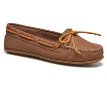 Smooth Leather Moc Slipper in braun