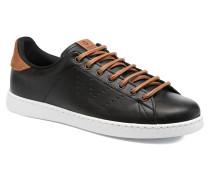 Deportivo Piel PU Contraste Sneaker in schwarz