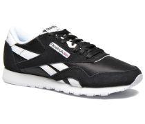 Classic nylon W Sneaker in schwarz