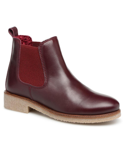 Boots Crepe Stiefeletten & in weinrot