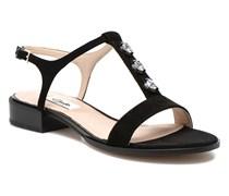 Bliss Shimmer Sandalen in schwarz