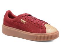 PS Suede Platform GlaminJr Glam Sneaker in weinrot