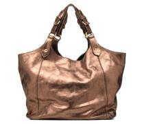 PACRIAinMET Cabas cuir Handtaschen für Taschen in goldinbronze
