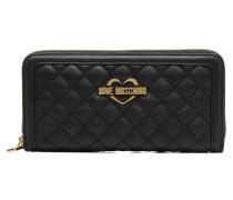 Portefeuille L Zip Around Quilted Portemonnaies & Clutches für Taschen in schwarz