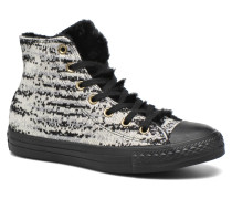 Ctas Winter Knit+Fur Hi Sneaker in schwarz