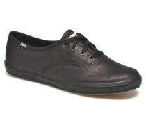 Ch Metallic Canvas Sneaker in schwarz