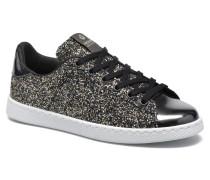 Deportivo Plateform Glitter Sneaker in schwarz