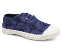 Tennis Broderie Anglaise E Sneaker in blau