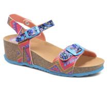 Strips Wedge Sandalen in mehrfarbig