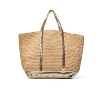 Cabas Raffia Paillettes XL Handtaschen für Taschen in goldinbronze