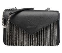 Porté épaule Metal Chains Handtaschen für Taschen in schwarz