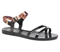 Tartan Sandalen in schwarz