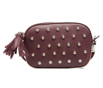 Mini Reporter Germain Studs Handtasche in weinrot