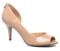 Hamilton Open Toe Pumps in beige