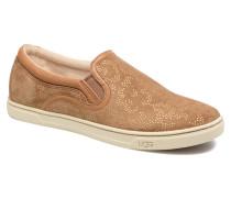 Fierce Metallic Conifer Sneaker in braun