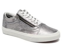 Old Skool Zip Sneaker in silber