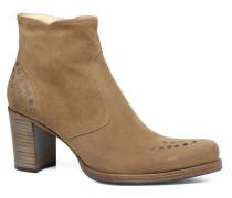 Paddy 7 Zip boot rivet Stiefeletten & Boots in beige