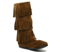 3 LAYER FRINGE BOOT Stiefeletten & Boots in braun