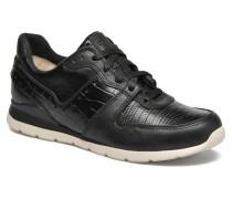 W Deaven Croco Sneaker in schwarz