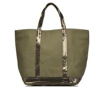 Cabas paillettes toile Porté main M Handtaschen für Taschen in grün