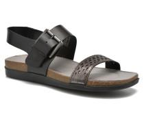 Romilly Buckled Sandalen in schwarz