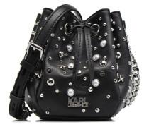 Rocky studs Drawstring Handtaschen für Taschen in schwarz