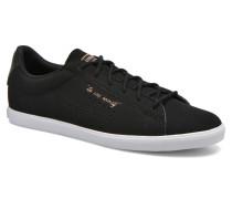 Agate Lo Syn Nubuck Sneaker in schwarz