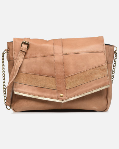 FRANCES LEATHER LARGE CROSSBODY Handtasche in braun