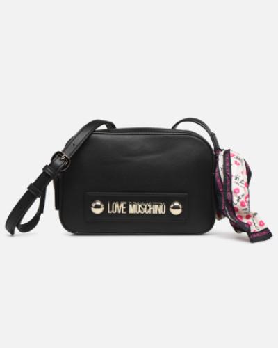 LETTERING CROSSBODY Handtasche in schwarz