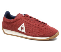 Quartz Perforated Nubuck Sneaker in rot