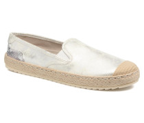 Mocca Espadrilles in silber