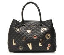Quilted cabas Love Handtaschen für Taschen in schwarz