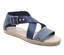 Aria Flat Salon Strap Sandalen in blau
