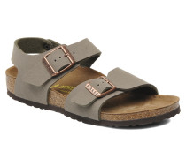 New York Birko Flor Sandalen in grau