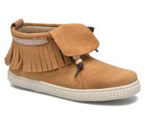 Botin Flecos Serraje Sneaker in braun